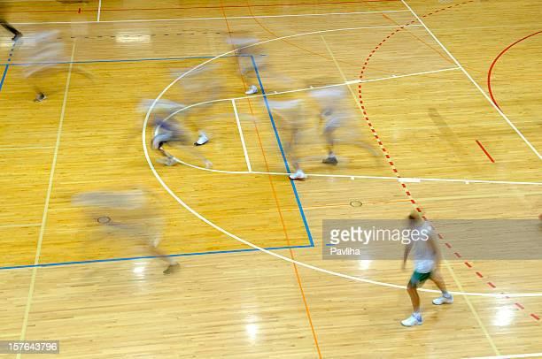 Handball Players in Motion
