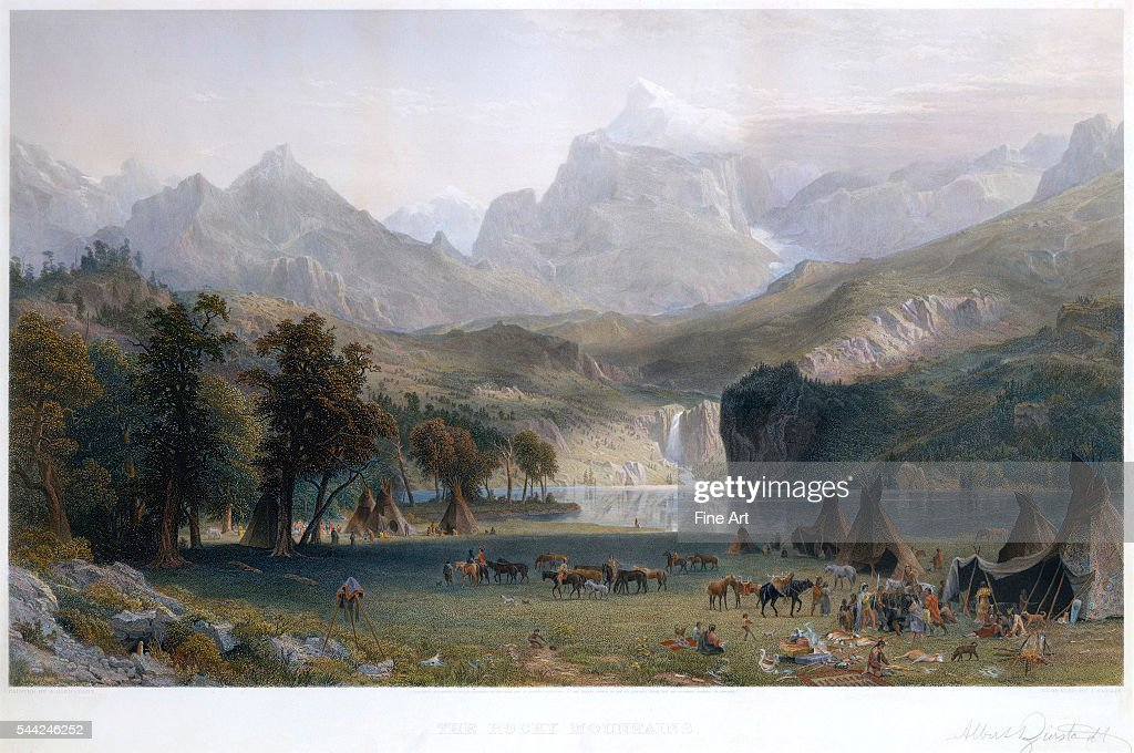 Handcolored engraving after original by James David Smillie 425 × 699 cm private collection
