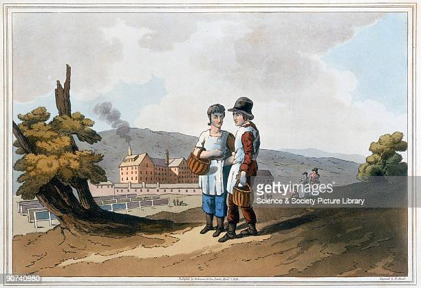 Handcoloured aquatint by Robert Havell after George Walker from �The Costume of Yorkshire� by George Walker published 1814 by Robinson Son of Leeds...