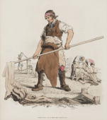 Handcoloured aquatint from 'The Costume of Great Britain' a book containing 60 images of people at work and scenes of everyday life The image shows...
