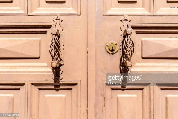 Handcrafted metal door handles
