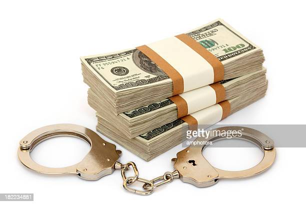 Handcuff and money