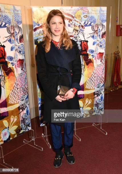 Hande Kodja attends 'Gala D'Enfance Majuscule 2017' Charity Gala At Salle Gaveau on March 20 2017 in Paris France