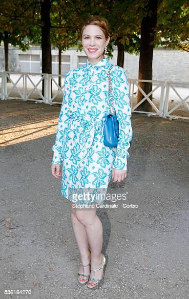 Hande Kodja attends the Montblanc Boheme Event Paris Photocall in Orangerie Ephemere at Jardin des Tuileries on July 9 2015 in Paris France