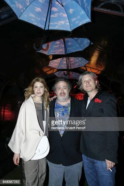 Hande Kodja Jaco Van Dormael and Charlie Dupont attend Delvaux Cocktail as part of Paris Fashion Week Womenswear at Jardin du Palais Royal on March 5...