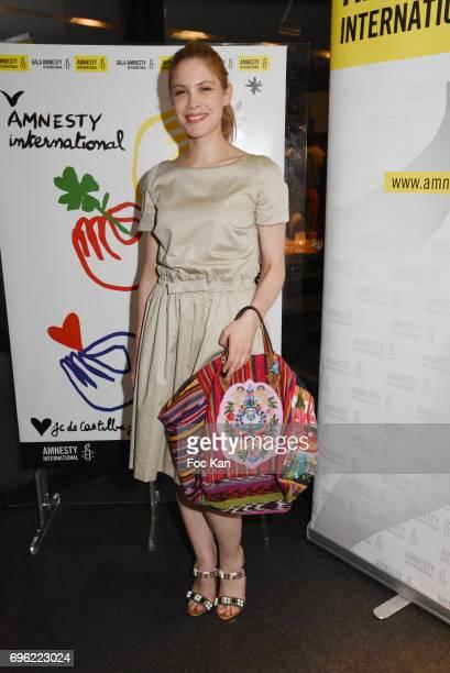 Hande KodjaÊattends Amnesty International 'Musique Contre L'Oubli' Gala Ceremony Gala Ceremony after Dinner at Maison Blanche on June14 2017 in Paris...