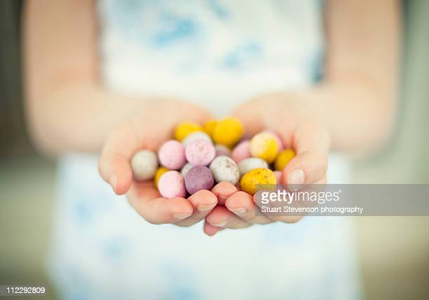 A handful of easter eggs