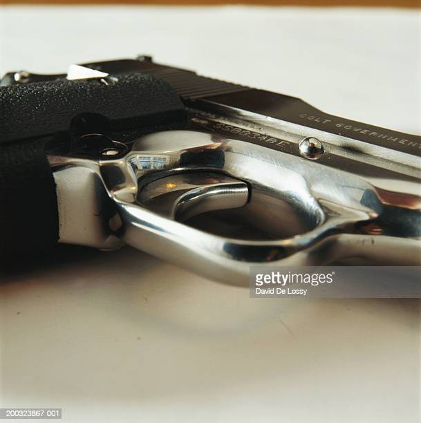 Handgun, close-up