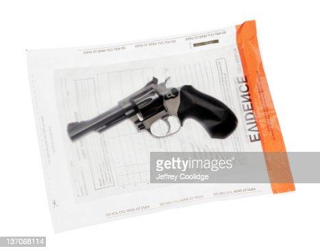 Handgun in Evidence Bag