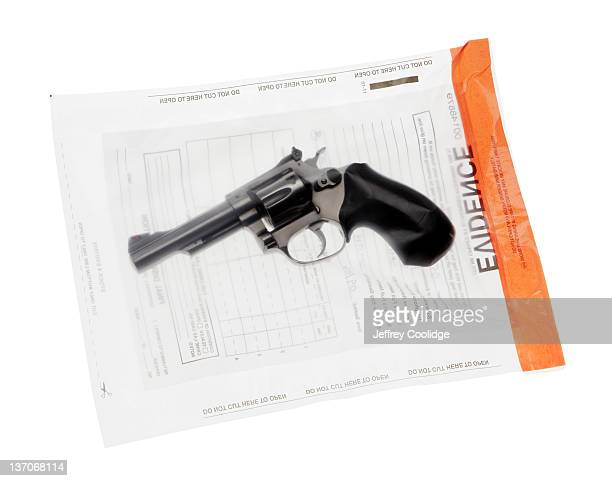 Handgun in Evidence Bag