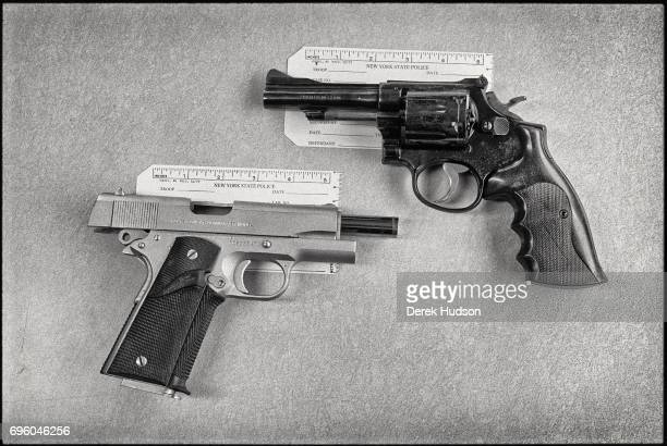 Handguns a Smith Wesson 38 caliber and a Colt Commander retrieved from the home of Keith Richards in South Salem New York when Anita Pallenberg...