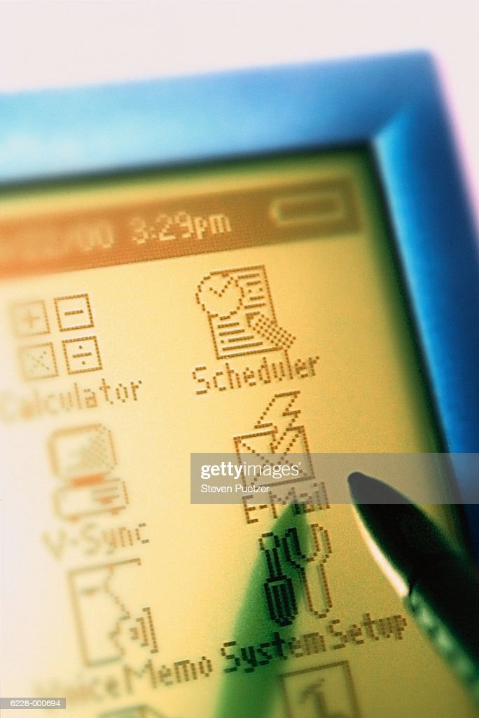 Handheld Computer Graphics : Stock Photo