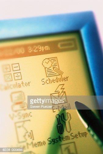 Handheld Computer Graphics : Foto de stock