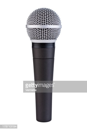 Handheld Microphone with Clipping Path