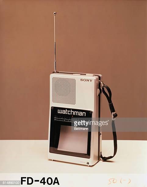 WATCHMAN Handheld portable TV Undated color photograph