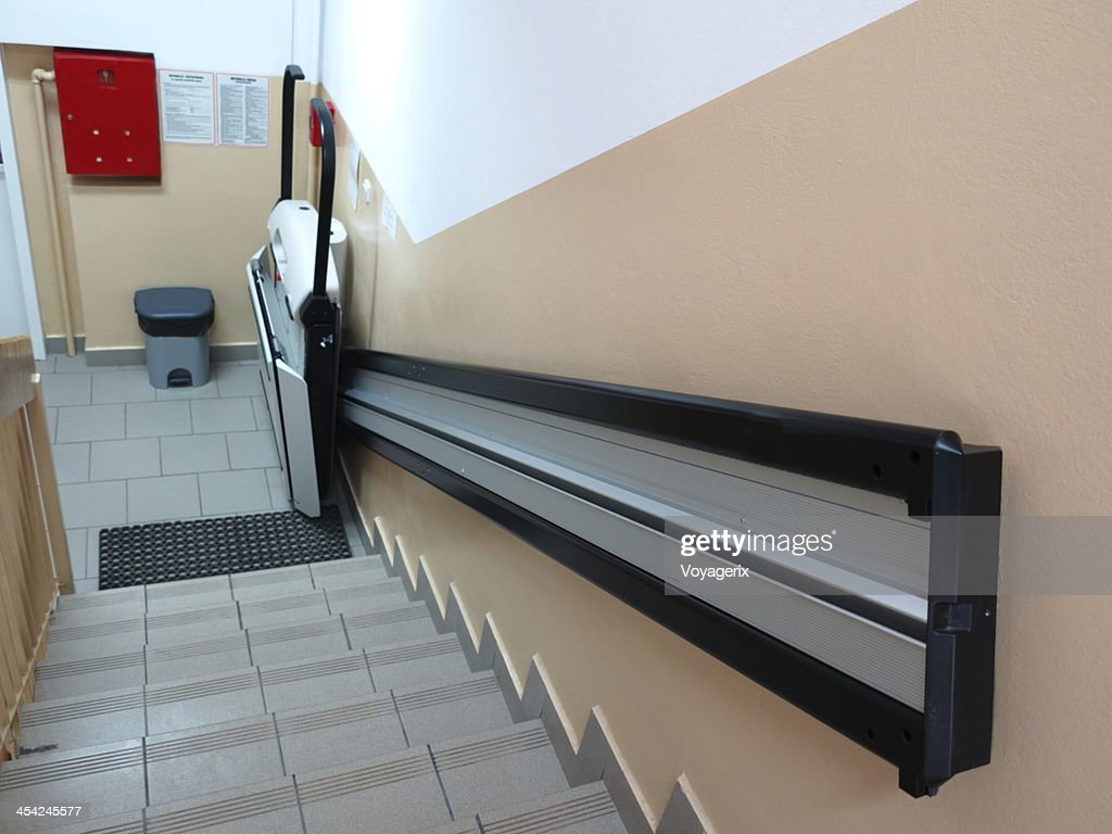 handicap elevator, lift for invalid wheelchair : Stock Photo