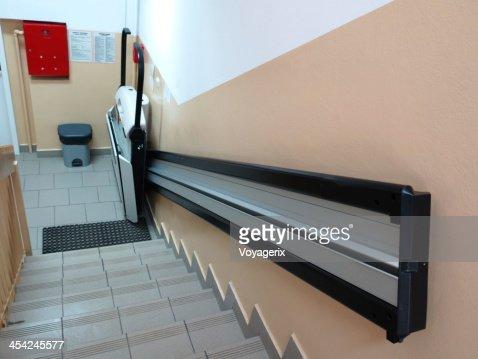 handicap elevator, lift for invalid wheelchair : Stock Photo