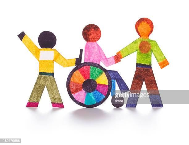 Découpes de papier pour personnes à mobilité réduite
