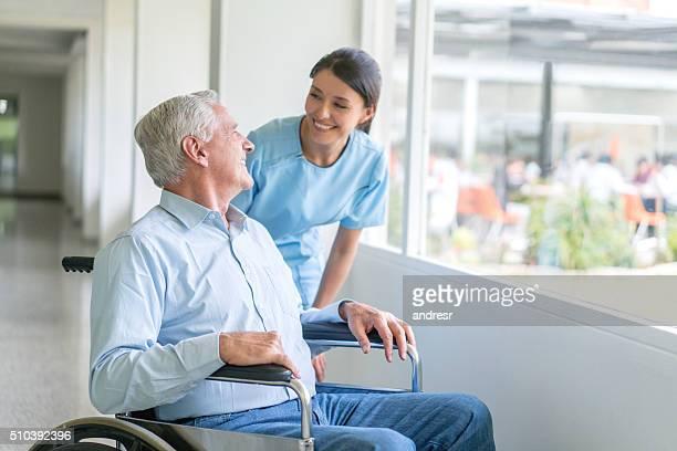 Handicap patient at the hospital