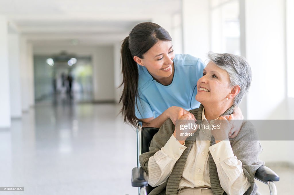 Handicap patient at the hospital : Stockfoto