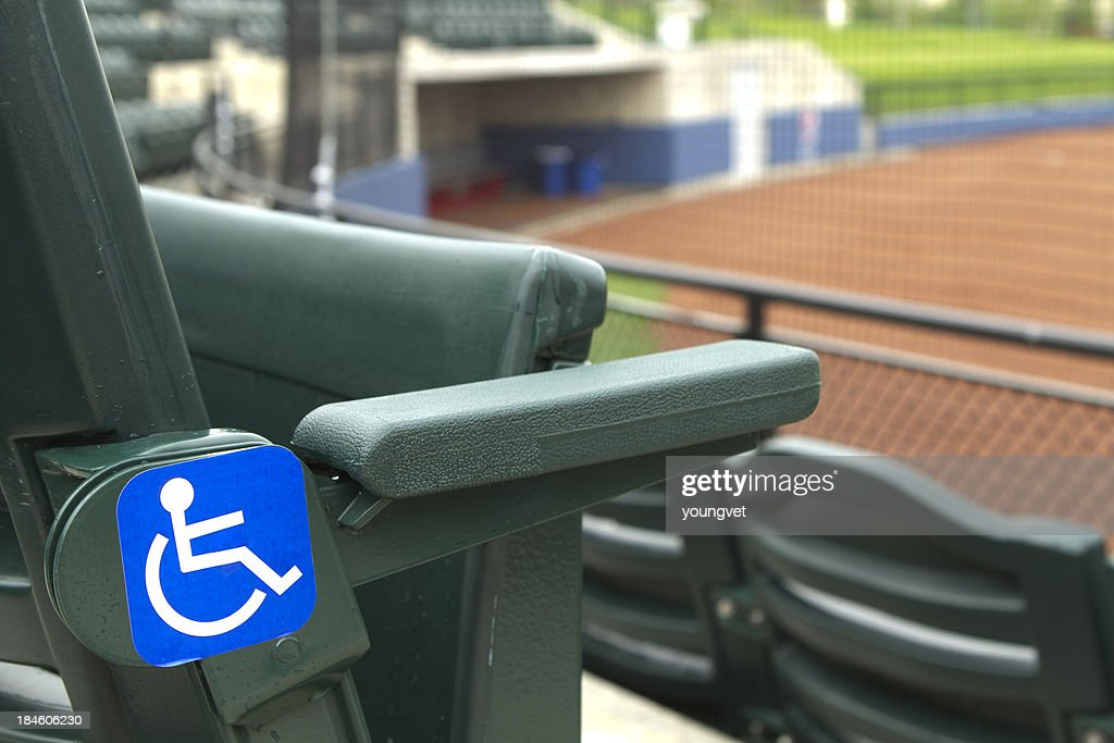 Handicap seating at a baseball stadium