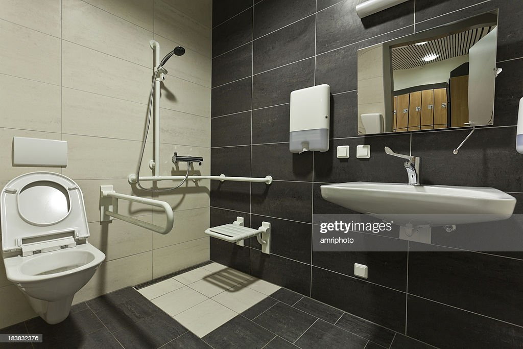 Handicapped Accessible Bathroom Stock Photo Getty Images