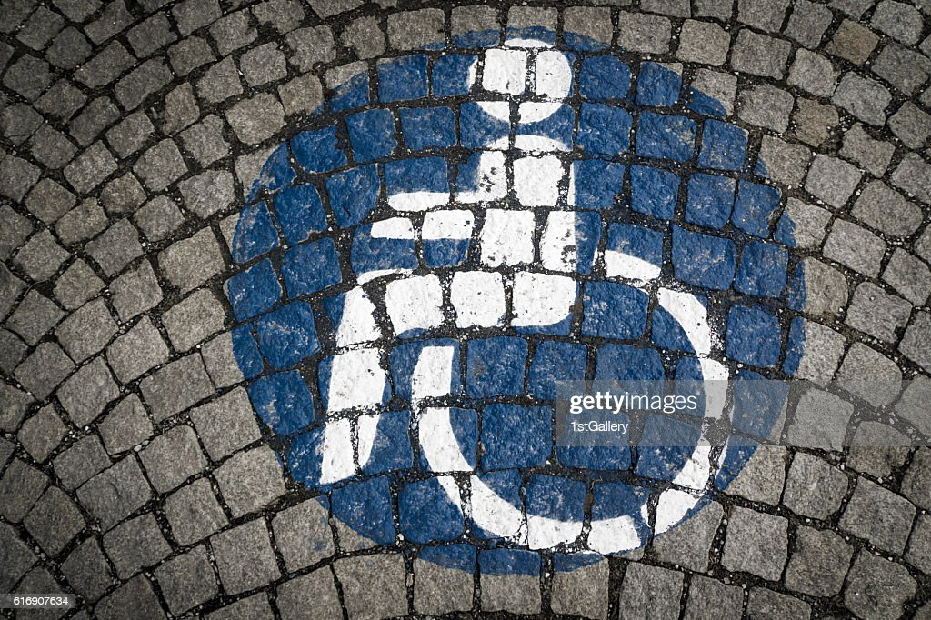 handicapped - disabled parking sign : Stock Photo