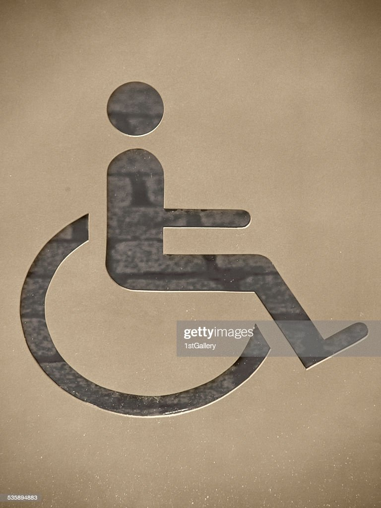 handicapped / disabled sign : Stockfoto