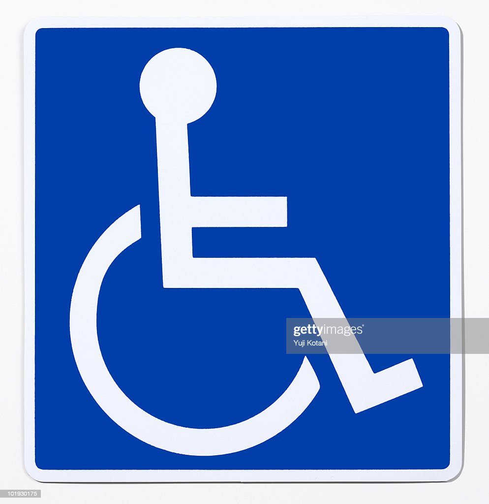 Handicapped person mark