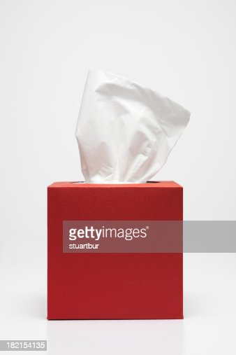 Handkerchief and red tissue box