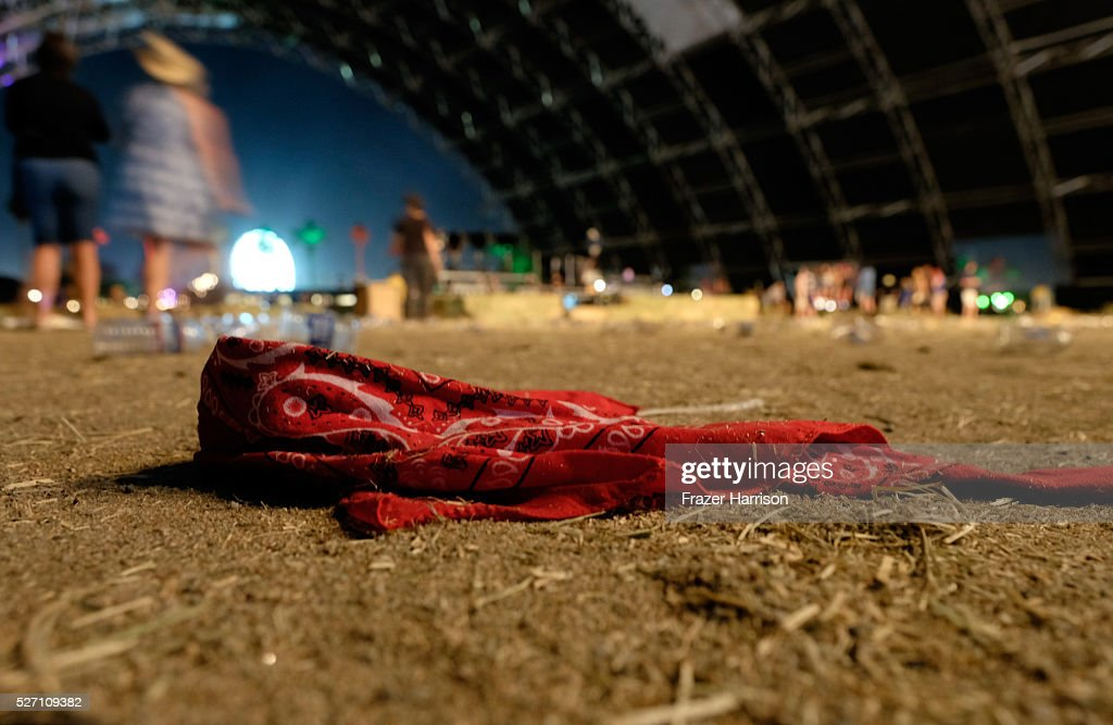 A handkerchief is seen during 2016 Stagecoach California's Country Music Festival at Empire Polo Club on May 01, 2016 in Indio, California.