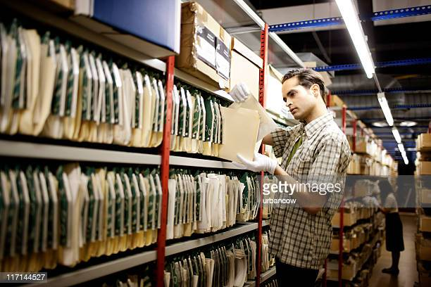 Handling archived material