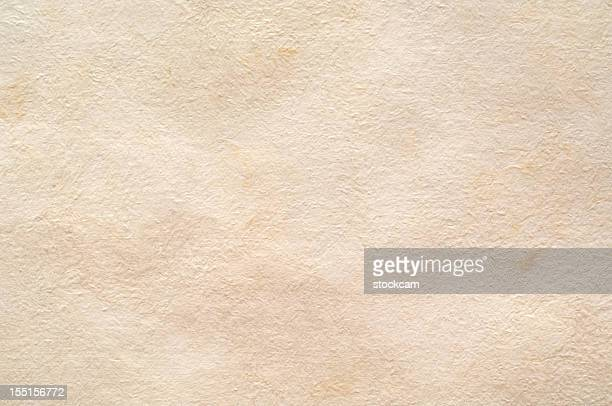 Handmade blank sheet of paper, isolated on white