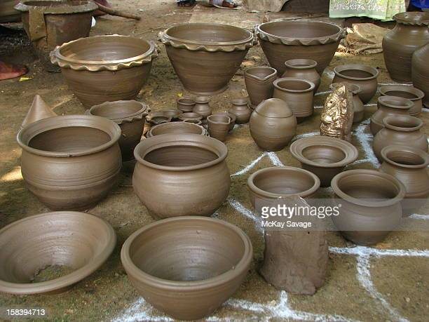 Hand-made clay pots for sale