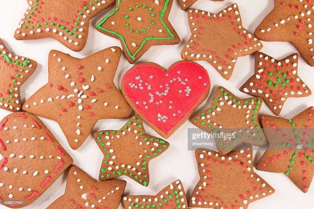Handgefertigte Einrichtung Ingwer Kekse : Stock-Foto