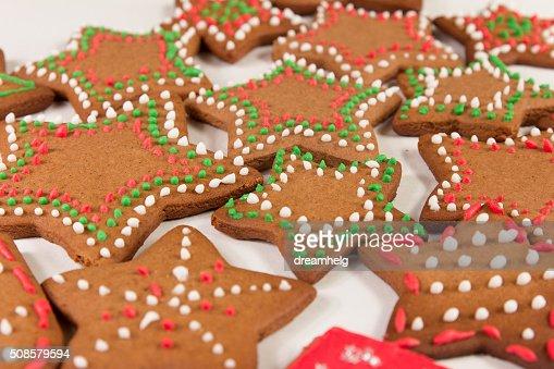 Realizzata a mano decorate zenzero cookie : Foto stock