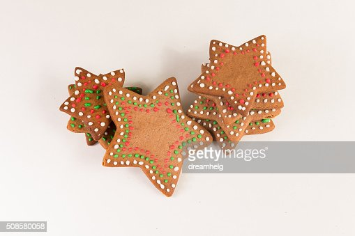 Décoration de biscuits au gingembre de la main : Photo
