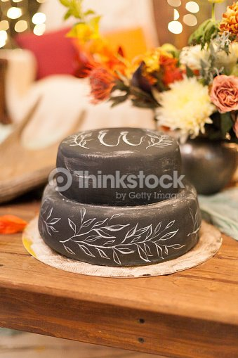 Handmade Hobby Celebration Concept Nearby With Bunch Of Flowers There Is Gorgeous Cake Decorated In Minimalistic Style Paints Leaves And Brunches