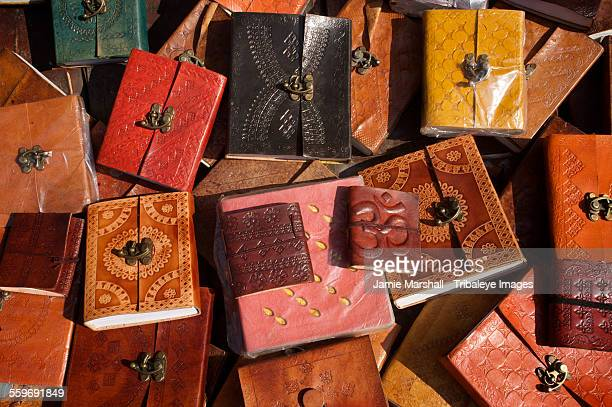 Handmade leather notebooks for sale