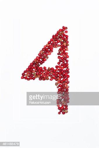 handmade red pepper number