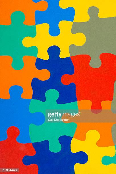 Hand-painted Puzzle Pieces