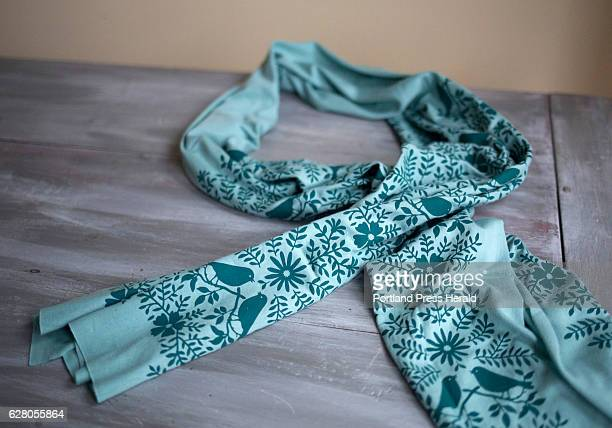 A handprinted Morris Essex scarf made on sustainable bamboocotton jersey fabric