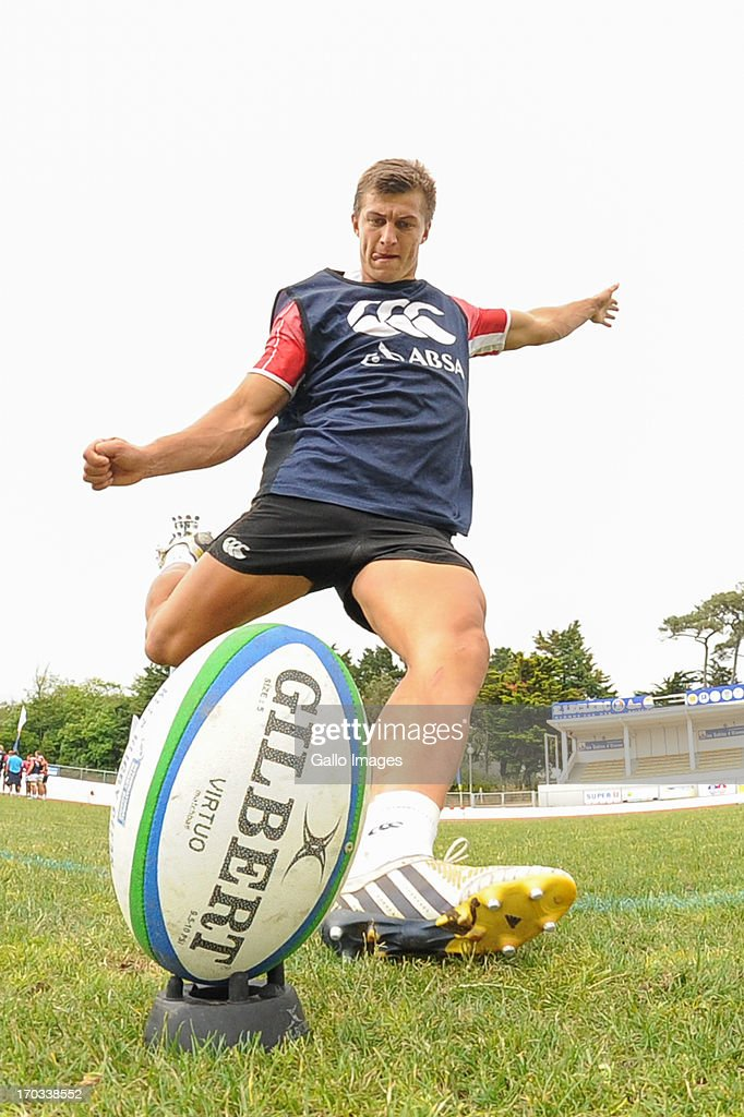 D' OLONNE, FRANCE - JUNE 11: (SOUTH AFRICA OUT) Handre Pollard during the South African U/20 training session at Stade les Sables d' Olonne on June 11, 2013 in les Sables d' Olonne, France.