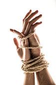 Hands bound together