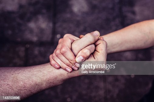 Hands connected together