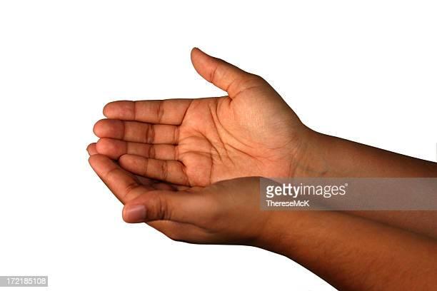 手-カップ