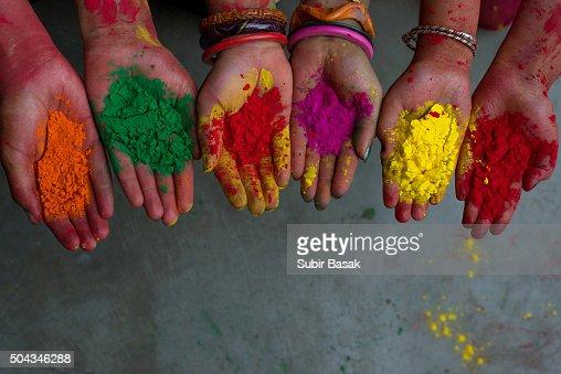 how to make color festival powder