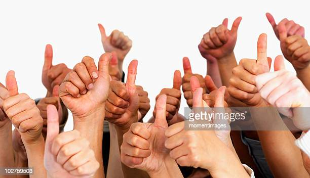 Hands giving thumbs up