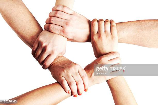 Hands Holding Each Other in a Circle