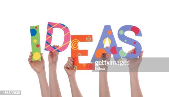Hands Holding IDEAS : Stock Photo